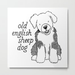 Dog Breeds: Old English Sheep Dog Metal Print