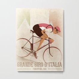 Giro D'Italia Cycling Race Italian Grand Tour Metal Print