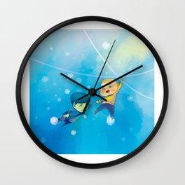 Spirk winter adventure Wall Clock