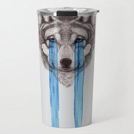 Don't Cry Wolf Travel Mug