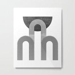 MID CENTURY MODERN ART DECO ARTWORK Metal Print