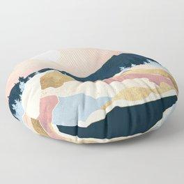 Coral Sunset Floor Pillow