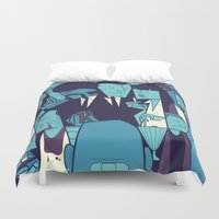 pulp fiction Duvet Covers featuring PULP FICTION variant by Ale Giorgini