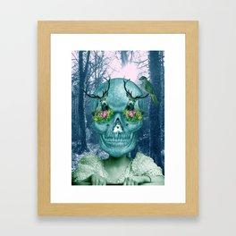 Woodland Hangover Blue Framed Art Print