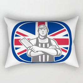 British Butcher Front Union Jack Flag Icon Rectangular Pillow