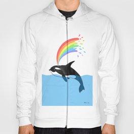 Killer Whale Blows Rainbow Hoody