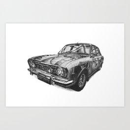 Ford Cortina Mk2 1600E Art Print