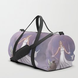 Wonderful fairy with dove Duffle Bag
