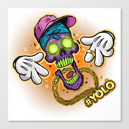 YOLO Skull Canvas Print