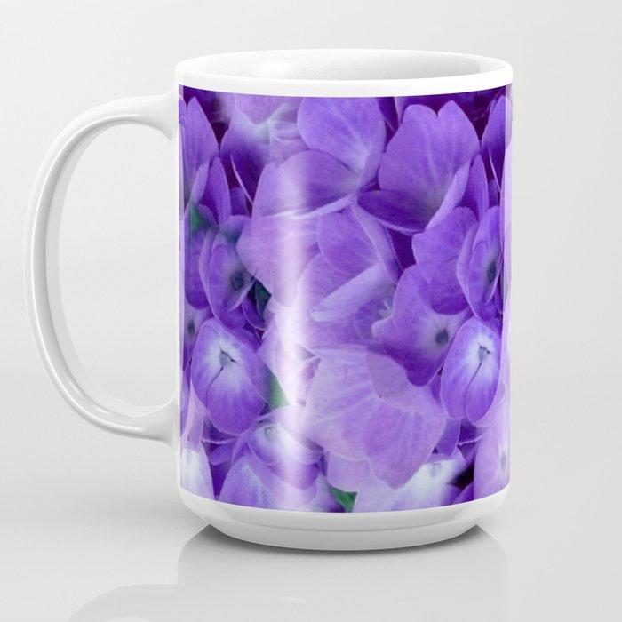 Amethyst Hydrangea Flowers Garden Art Coffee Mug By Sharlesart Society6