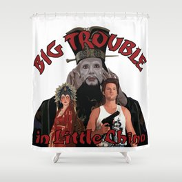 """Big Trouble"" Shower Curtain"