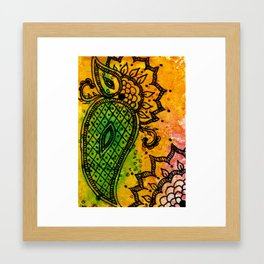 Henna Fantasia Paisley Framed Art Print