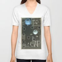 pills V-neck T-shirts featuring Human Pills by Naomi Vona
