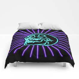 Blue Laughing Skull Comforters