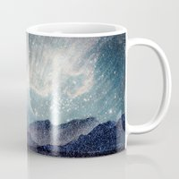 northern lights Mugs featuring Northern lights by LisaB