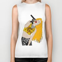 hedwig Biker Tanks featuring Hedwig Singing by byebyesally