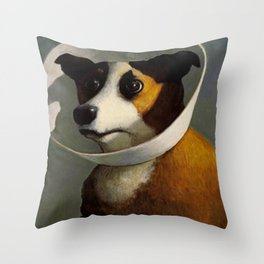 orejeras de perro Throw Pillow