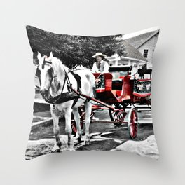 Mystic Carriage Ride Photography Throw Pillow