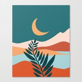 Moonlit Mediterranean / Maximal Mountain Landscape Canvas Print