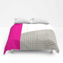 Minimal Triangles Magenta Comforters