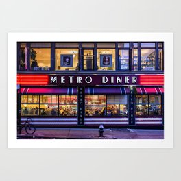 Metro Diner NYC Art Print