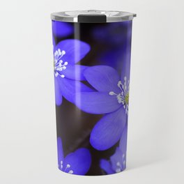 First Spring Flowers in Forest Travel Mug