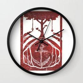 Grounding (White) Wall Clock
