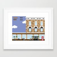 shaun of the dead Framed Art Prints featuring 8bit Shaun Of The Dead by TheRandomFactory