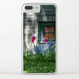 Early summer cottage Clear iPhone Case