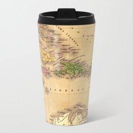 Map Of The Caribbean 1828 Travel Mug