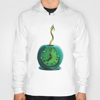 haunted mansion Hoodies featuring Haunted Mansion 13th Hour Clock Apple by ArtisticAtrocities