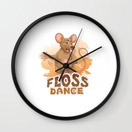 Floss Dance Move Rat Wall Clock