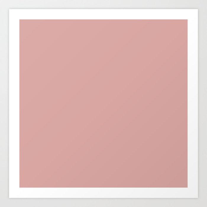 Rose Blush D9A6A1 Art Print