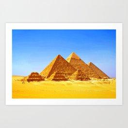 The Pyramids At Giza Art Print
