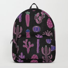 Cactus Pattern On Chalkboard Backpack
