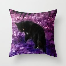 ...Lady not in mood Throw Pillow