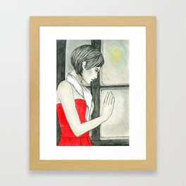 Hope is coming Framed Art Print