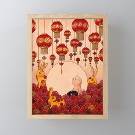 Mid Autumn Festival Framed Mini Art Print