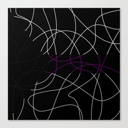 Abstract Threads – Demisexual Pride Flag Canvas Print