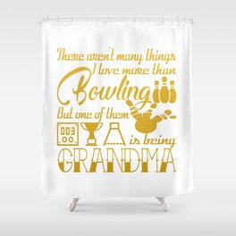Bowling Grandma Shower Curtain