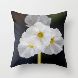 White blooming flower Throw Pillow