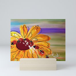Ladybug Follow the Leader Mini Art Print