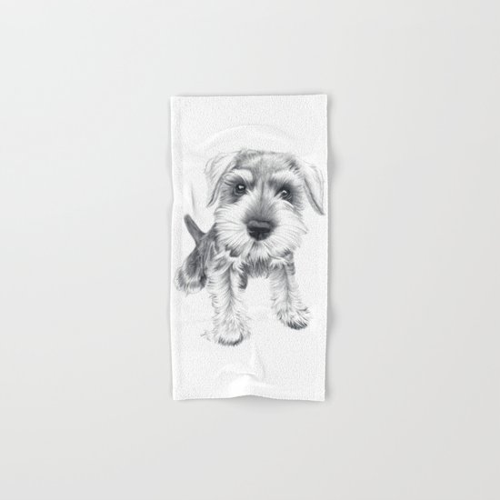 Schnozz the Schnauzer Hand & Bath Towel