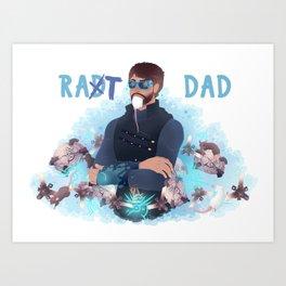 Rat dad Art Print