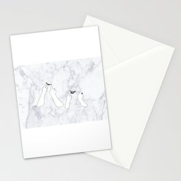 You girls are so pretty, you should smile Marble Stationery Cards
