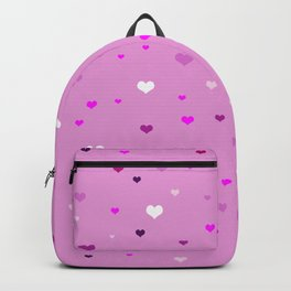 Numerous hearts of different shades of pink Backpack