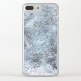 Green Metal Clear iPhone Case