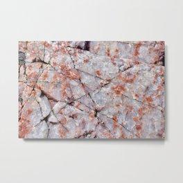 Quartz in granite Metal Print