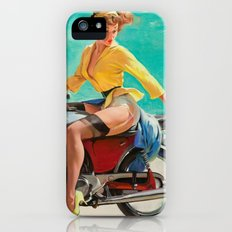 Gil Elvgren - Motorcycle Pinup Girl iPhone (5, 5s) Slim Case
