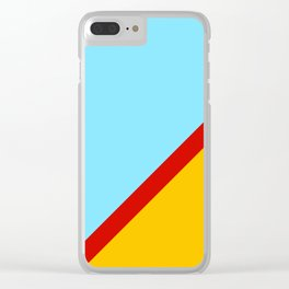 Abstract Retro Surface Clear iPhone Case